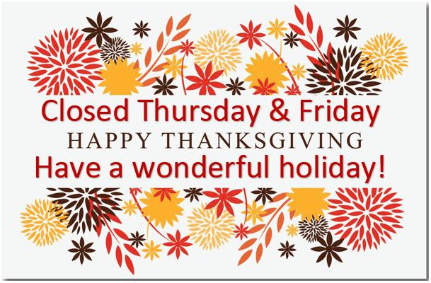 Parish Office Closed for Thanksgiving | Love Saint              Mark's